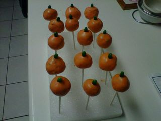 Cake pop pumpkin1