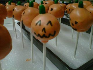 Cake pop pumpkin2